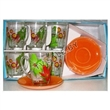 Чайный сервиз luminarc (люминарк) pop flowers orange 12 пр. арт: c5943