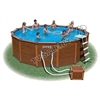 Каркасный бассейн intex 54464 sequoia spirit wood-grain frame pool 508 x 124